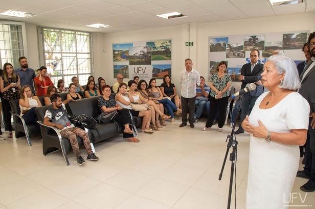 Reitora participa da inauguração da Sede da Unidade de Atenção Especializada em Saúde (UAES). Foto: Daniel Sotto Maior/DCI/UFV