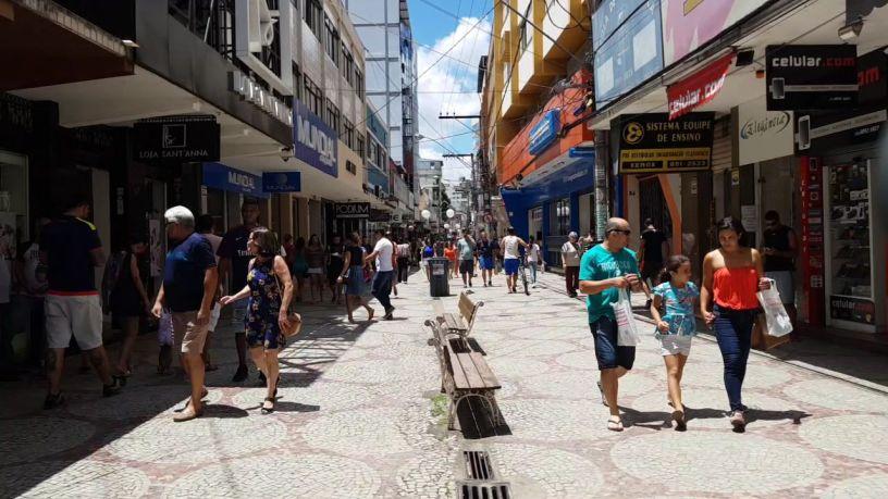 Calçadão da Rua Artur Bernardes. Foto: Artur Vieira/VD